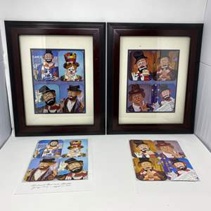 Lot # 42 - Eight Framed Red Skelton Coasters