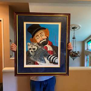 """Lot # 44 - Large Signed & Numbered Red Skelton """"Freddie's Friendship"""" Mixed Media Graphic # 841/999 (Purchased for $1,400)"""