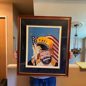 """Lot # 45 - Lot # 44 - Large Signed & Numbered Red Skelton """"Freddie at Your Service"""" Mixed Media Graphic # 37/999"""