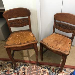 Lot # 264 - Two Vintage/Antique Child Size Chairs