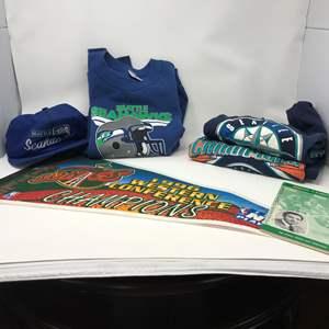 Lot # 269 - Seattle Super Sonics 1996 Champions Pendent, Seahawks & Mariners Shirts
