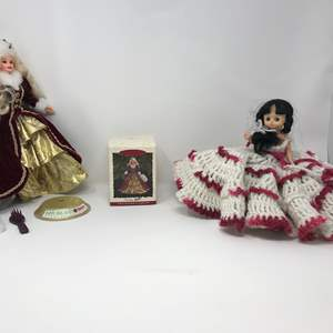 Lot # 271 - Barbie Collector Doll, Ornament & Doll w/ Hand Crocheted Dress
