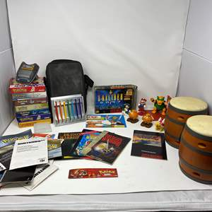 Lot # 225 - Misc. Nintendo Items: McDonald's Toys, Empty Gameboy Boxes, Zelda Map, Manuals & More