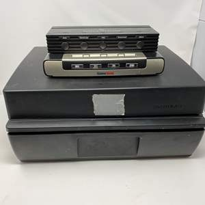 Lot # 229 - Two Game Selectors & Console storage box