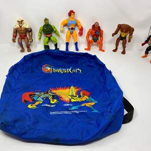 Lot # 239 - Vintage ThunderCats Backpack & Action Figures