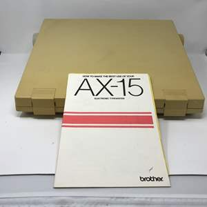 Lot # 191 - Brother AX-15 Electric Typewriter w/Manuel