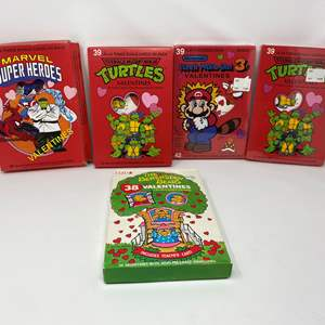 Lot # 301 - Vintage Valentines Cards - (3- Boxes Unopened - One New Mario Box is Not Pictured)