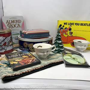Lot # 358 - Odds & Ends: Beatles Book, 2 Baileys Cups, Fenton Tree & More