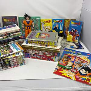 Lot # 310 - Japanese Dragon Ball & Other Anime Books, Videos & More - (All Books in Japanese)