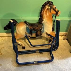 Lot # 316 - Vintage Kids Rocking Horse