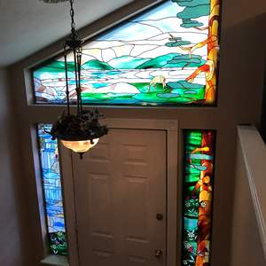 Lot # 374 - Stained Glass Window Inserts