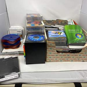 Lot # 345 - Large Collection of PC Games, Software & More  - (See Pictures)