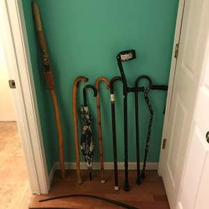 Lot # 376 - Lot of Canes & Walking Stick