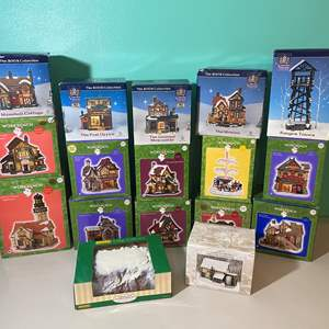 Lot # 392 - Collection of Santa's Workbench Lighted Village Houses & More