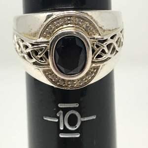 Lot # 106 - Nice Sterling & Stone Ring - 6.52 Grams