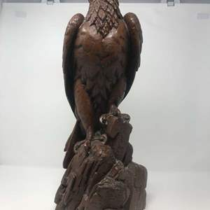 """Lot # 114 - Large Carved Signed & Numbered """"Red Mill"""" Bald Eagle Statue """"#901""""  - 20.5"""" Tall"""
