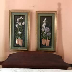 "Lot # 132 - 2 Beautiful 3-D Floral Wall Art Both - 34"" x 17"""