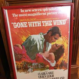 """Lot # 144 - Vintage """"Gone w/ the Wind"""" Movie Poster"""