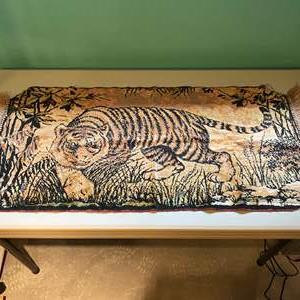 Lot # 210 - Vintage Tiger Tapestry