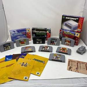 Lot # 224 - Collection of Nintendo 64 Games, Boxes & Manuals - (See Pictures)