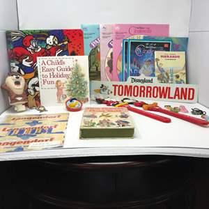 Lot # 251 - Collectibles: Disney Paper Dolls, Royal Rangers Handbook, TAZ Nightlight, Key Chain, Vintage Bread Wrapper & More.