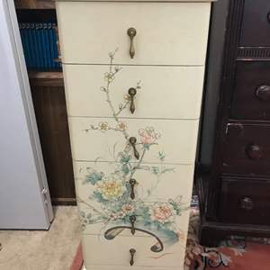 Lot # 254 - Adorable Free Standing Jewelry Stand w/ Red Velvet Lined Drawers
