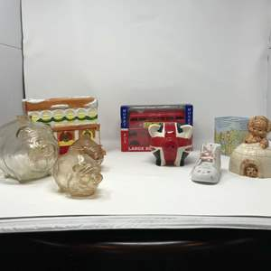 Lot # 257 - Collection of Vintage Piggy Banks