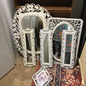 Lot # 263 - Vintage Home Interior Mirrors of Various Sizes & More
