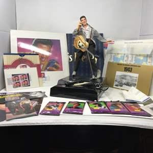 Lot # 267 - Elvis Stamps, Elvis Phone & More