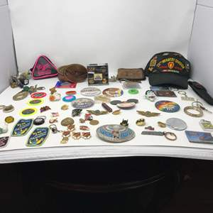 Lot # 272 - Collection of Pins, Patches, Buttons & More - (See Pictures)