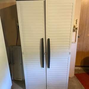"""Lot # 410 - Keter Plastic Storage Cabinet - (71""""t x 34.5""""w x 18""""d)"""