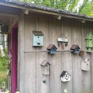 Lot # 78 Tinman & Birdhouses