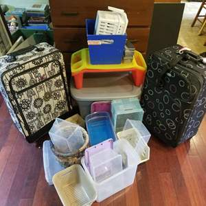 Lot # 97 Plastic Containers & Suitcases