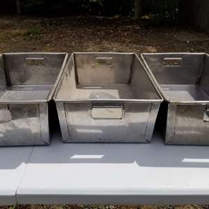 Lot # 107 Stainless Steel Trays/buckets