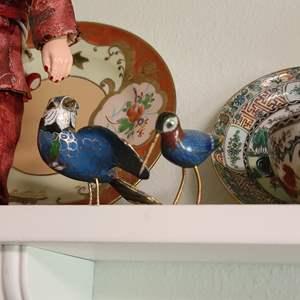 Lot # 19 Cloisonne Birds & Assorted Collectibles