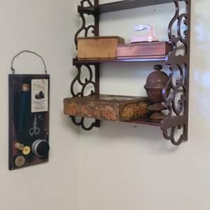 Lot # 20 Shelf & Decor.