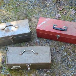 Lot # 8 3 Tool Boxes & Contents