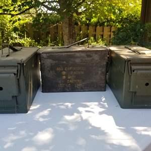 Lot # 72 Vintage Ammo Boxes