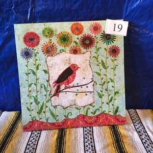 Lot # 19 - Vibrant Bird Art