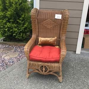 Lot # 21 - King Size Wicker Chair