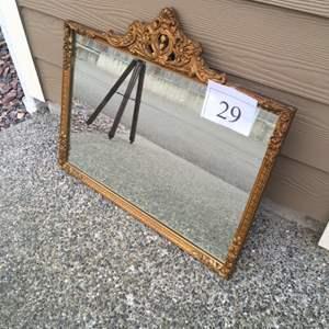 Lot # 29 - Antique Squared Mirror