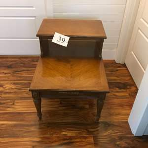 Lot # 39 - Mid Century End Table with Brass Details