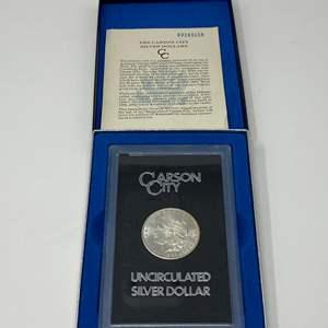 Lot # 1 - Uncirculated 1883 Carson City Morgan Silver Dollar