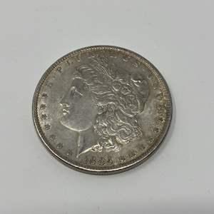 Lot # 8 - 1885 Morgan Silver Dollar - (No Mint Marking)