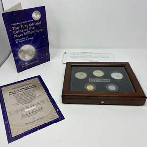 """Lot # 18 - The Franklin Mint """"The First Official Coins of the New Millennium"""" Official Issue of The Republic of Kiribati"""