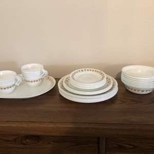 Auction Thumbnail for: Lot # 88 - 38 Piece Set of Corelle Dinnerware