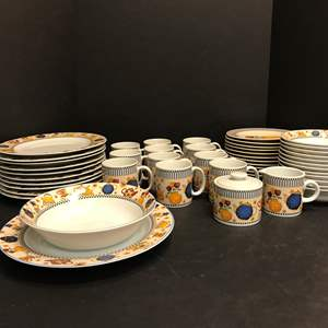 "Lot # 50 - 49 Piece Set of Sakura ""Teapots"" Dinnerware"