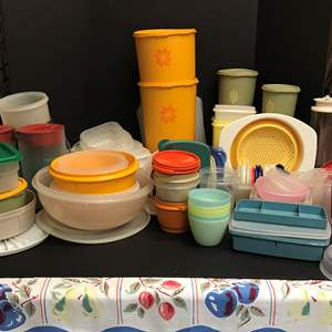 Lot # 54 - Large Selection of Tupperware Food Storage & More Misc. Plastics