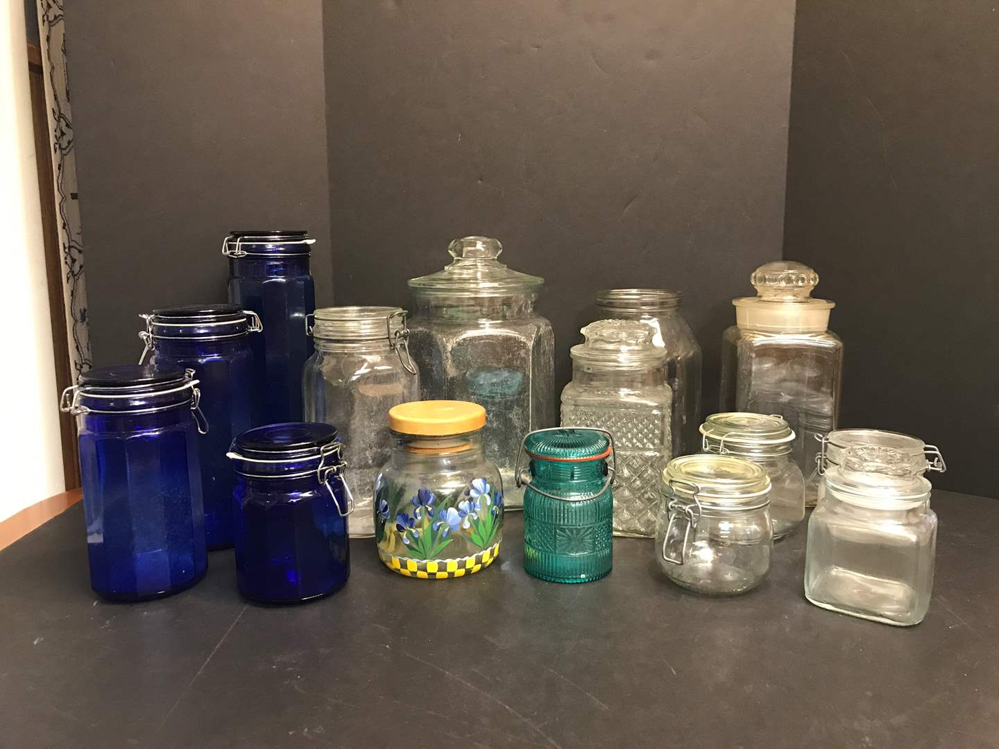 Lot # 59 - Lot of Glass Canisters of Various Sizes (main image)