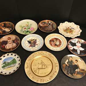Auction Thumbnail for: Lot # 64 - Lot of Collectors Plates Some Norman Rockwell & More